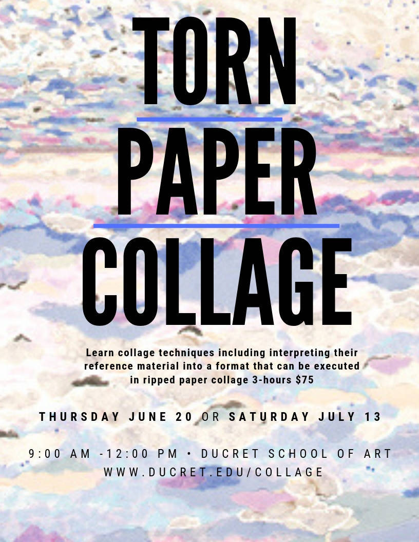Torn Paper Collage Workshop | TAPinto