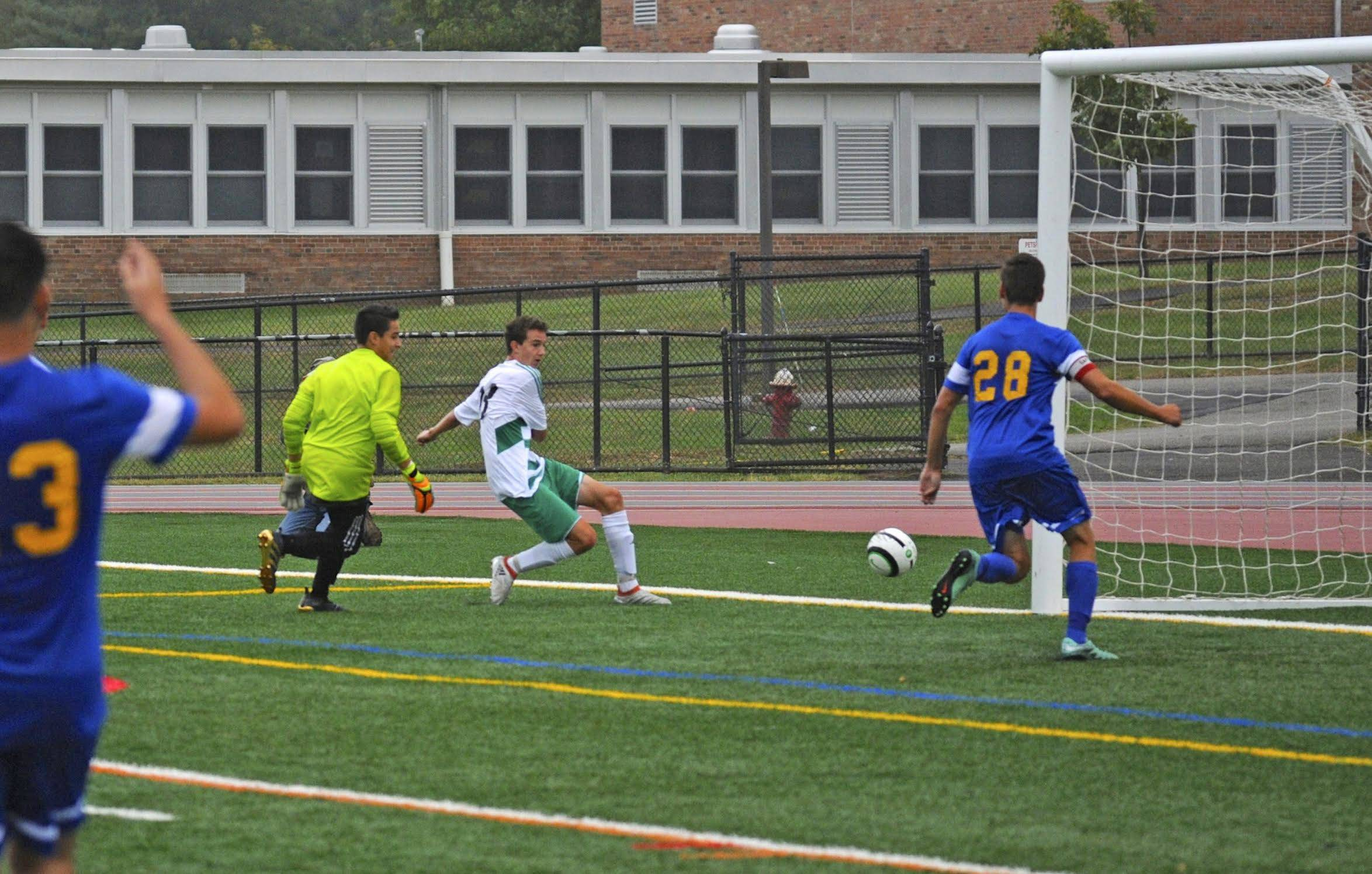 essay on soccer game continuous writing spm essay the philly  photo essay ridge boys soccer takes command on the field ridge s mark stachowski scoring the