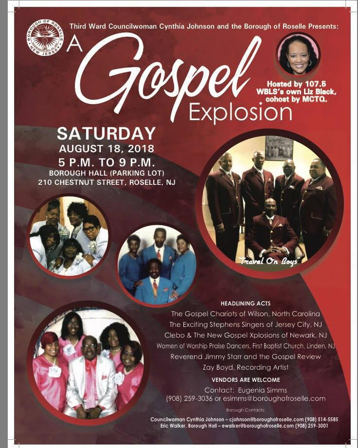 First ever gospel explosion coming to roselle on august - Paradise gardens roselle park nj ...