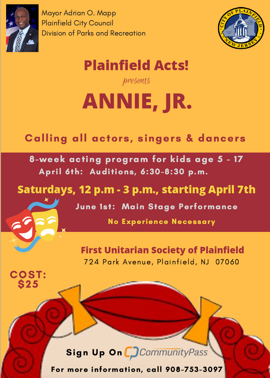 Auditions: Plainfield Acts! Presents Annie, Jr  - TAPinto