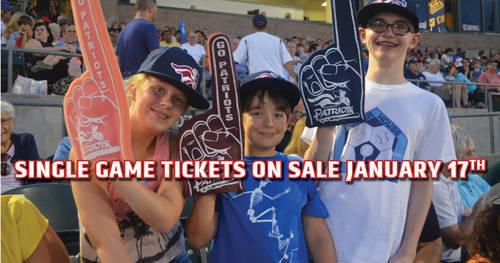 Somerset Patriots 39 2017 Single Game Tickets Go On Sale Jan