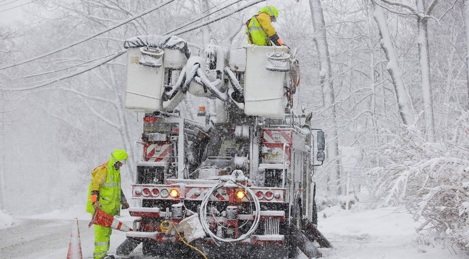 New Jersey storm tally: Bus service stopped, more than 125K lose power