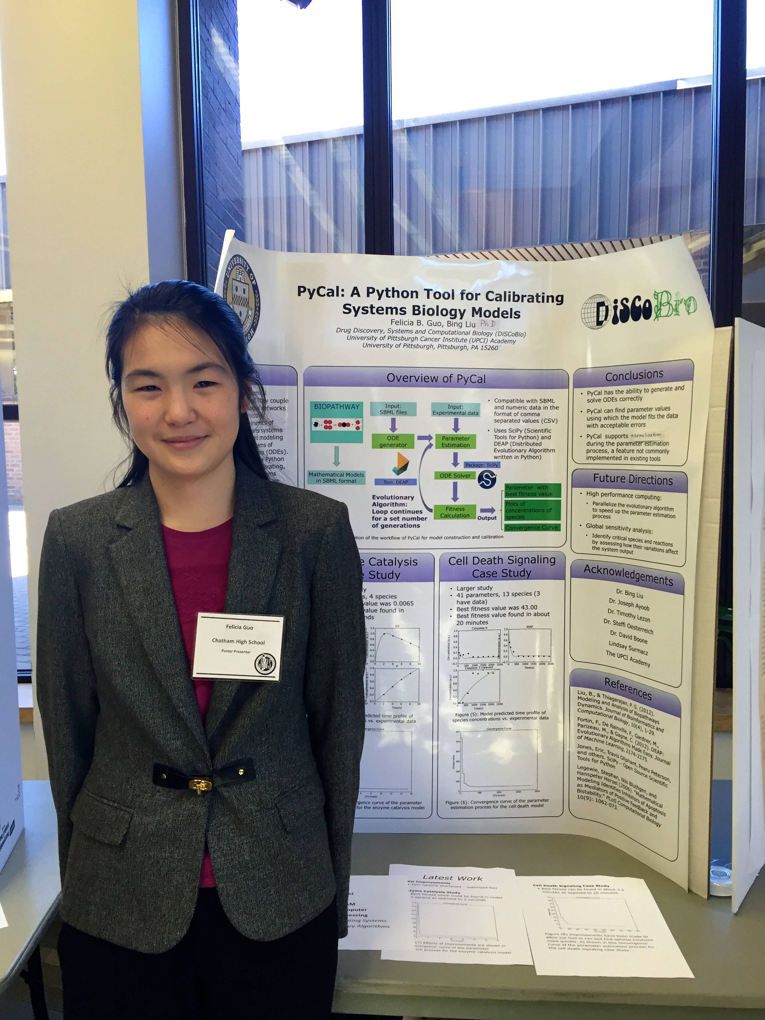 5a26ad50b2e4a675455f_380b97fc9f103cb2566a_Felicia_Guo_presents_her_poster_on_Computer_Modeling_of_BIochemical_reactions.jpg