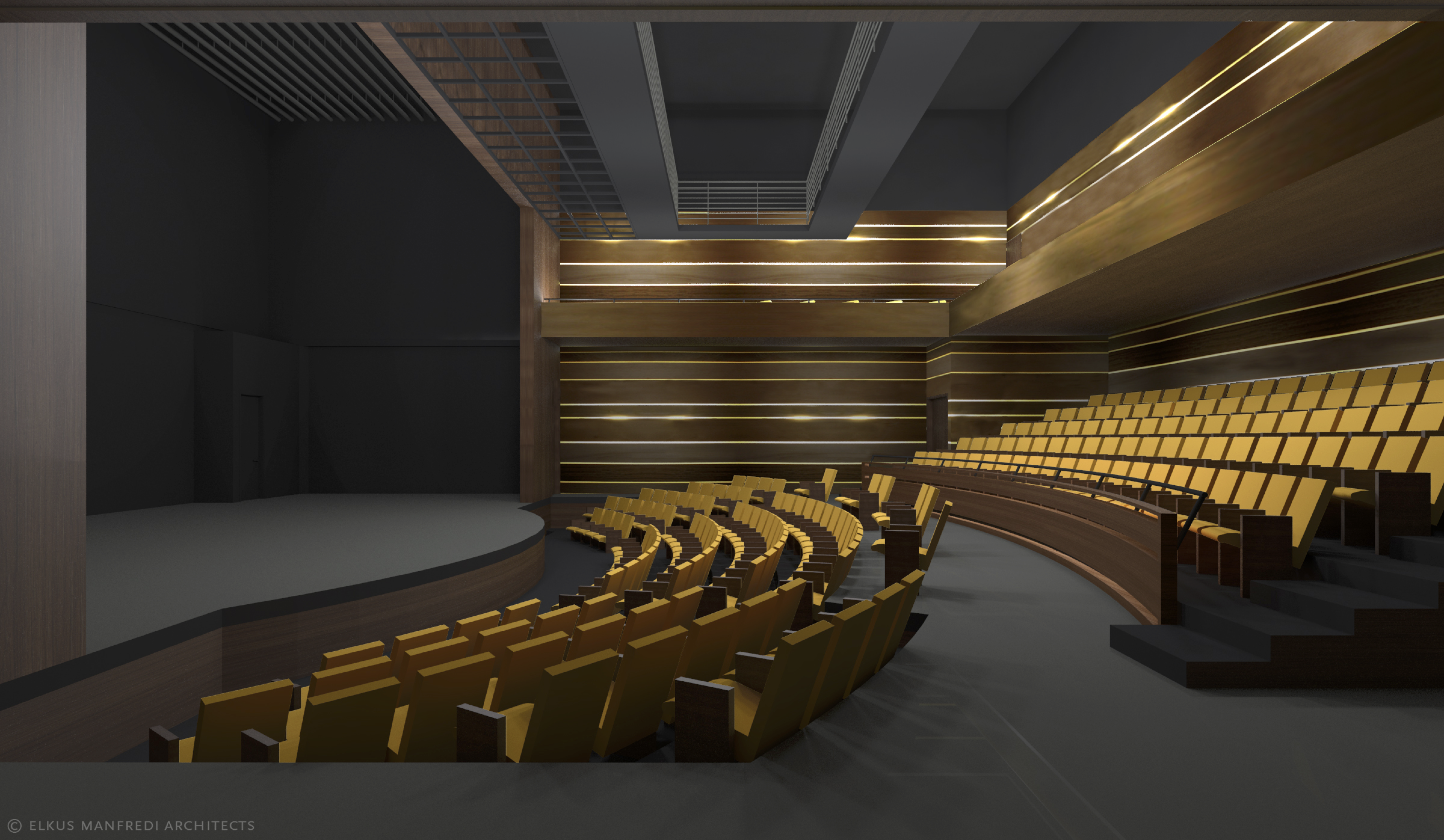 A Rendering Of One Two Theaters Approved In The Cultural Center Redevelopment Project Credits Devco NEW BRUNSWICK