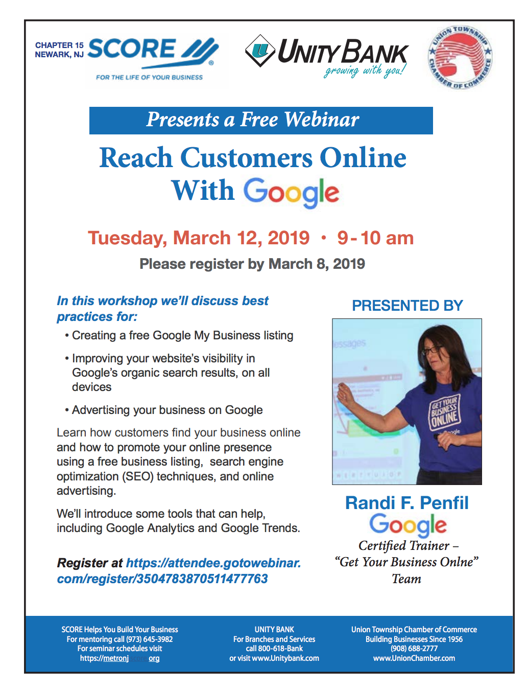 Free Webinar: Reach Customers Online with Google - TAPinto