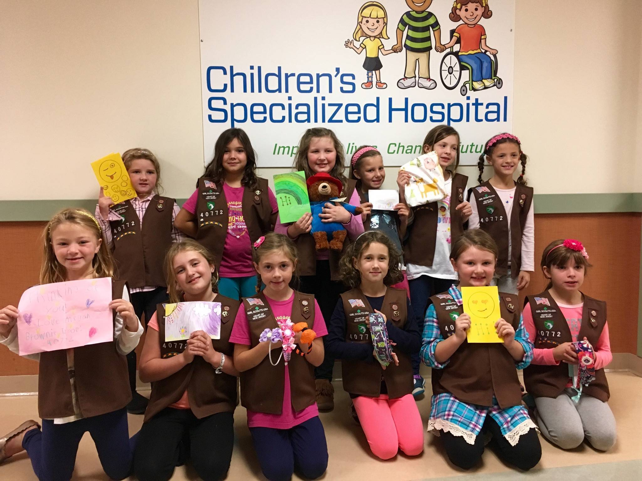 Cranford Brownie Scouts Commit to Service from the Heart