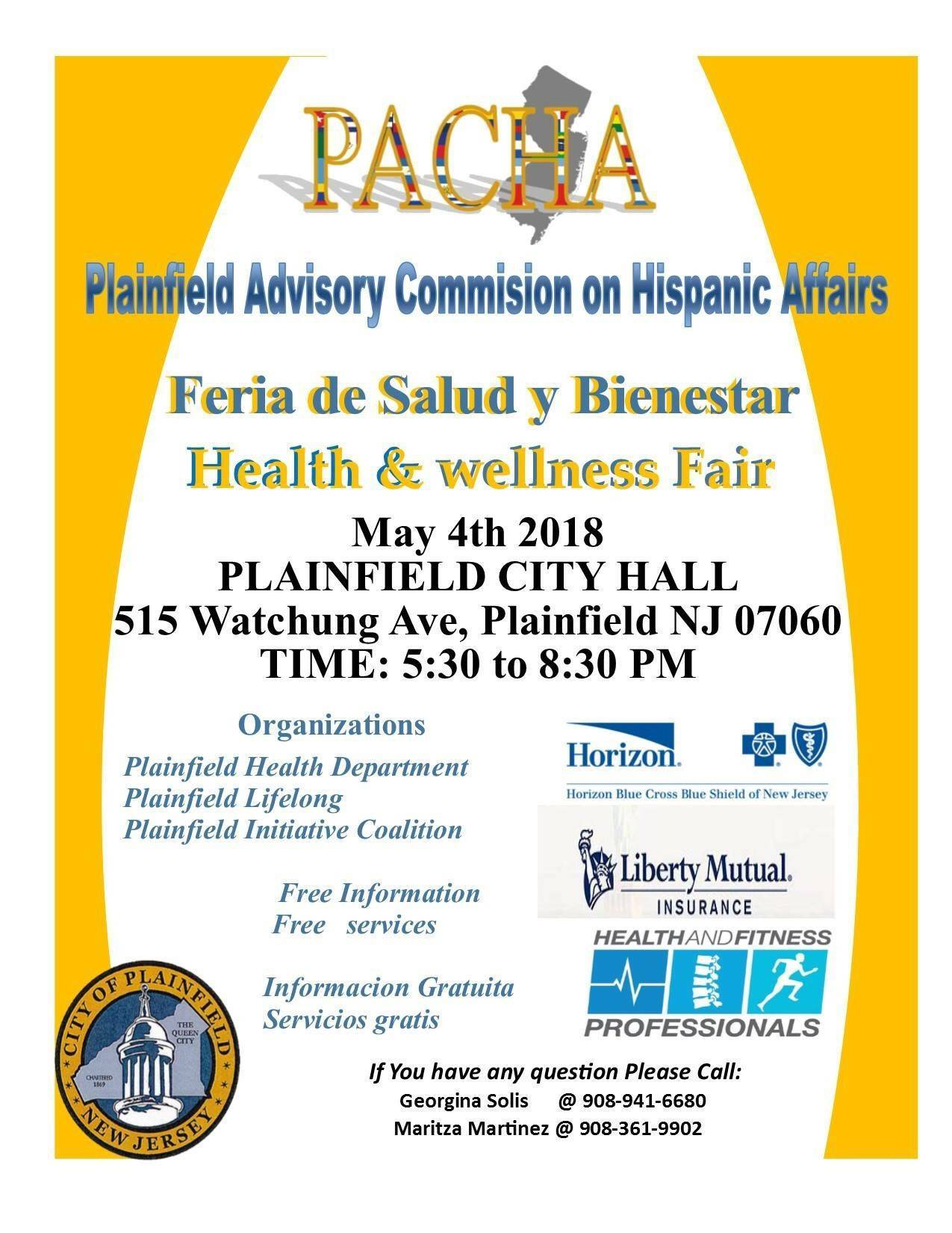 PACHA to Hold Health and Wellness Fair at Plainfield City Hall ...