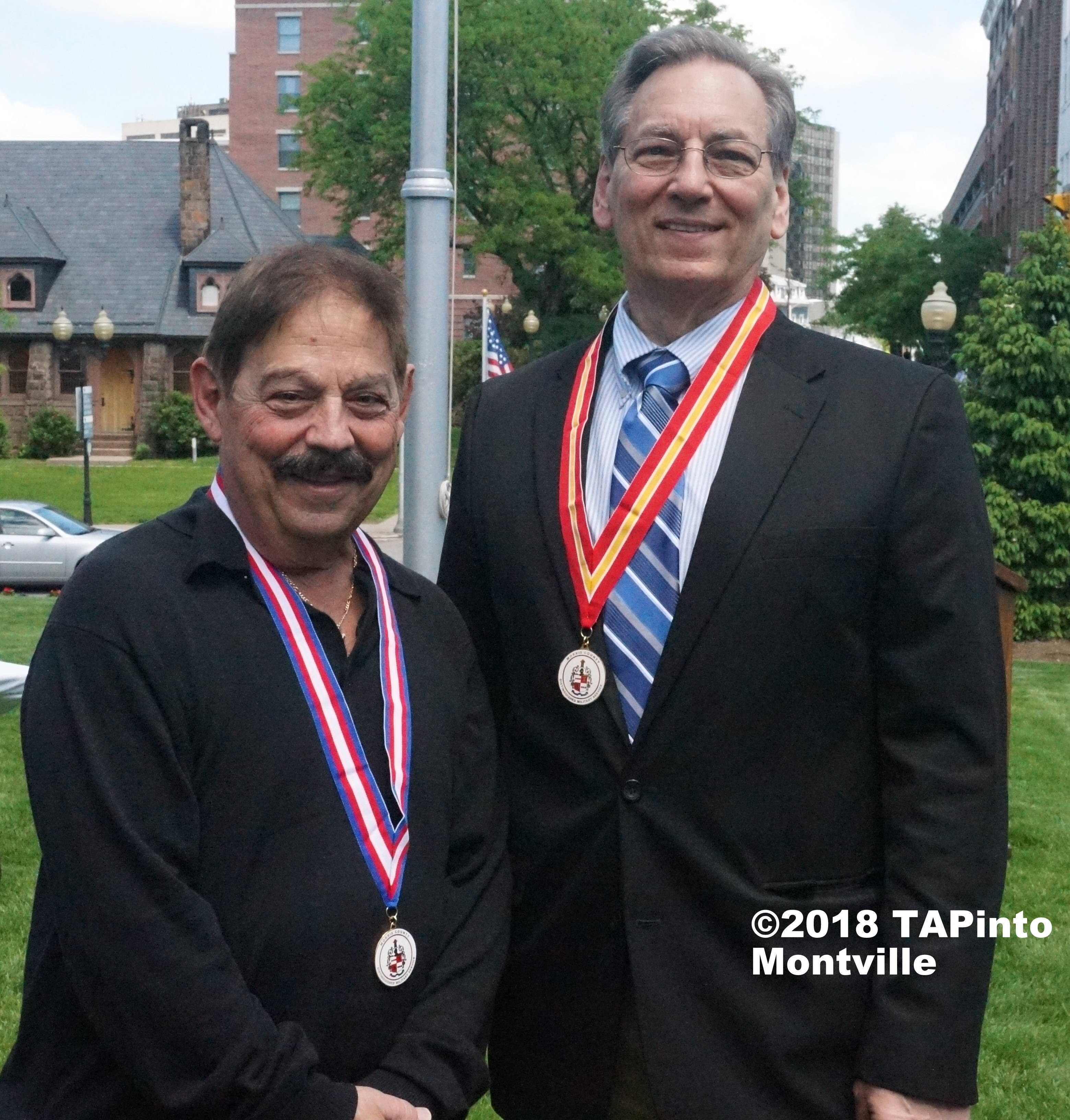 72321089749b45050818_a_John_Mascellino__U.S._Army_and_Kenneth_Hanzel__U.S._Army__with_their_Distinguished_Service_Award_Medals__2018_TAPinto_Montville.JPG
