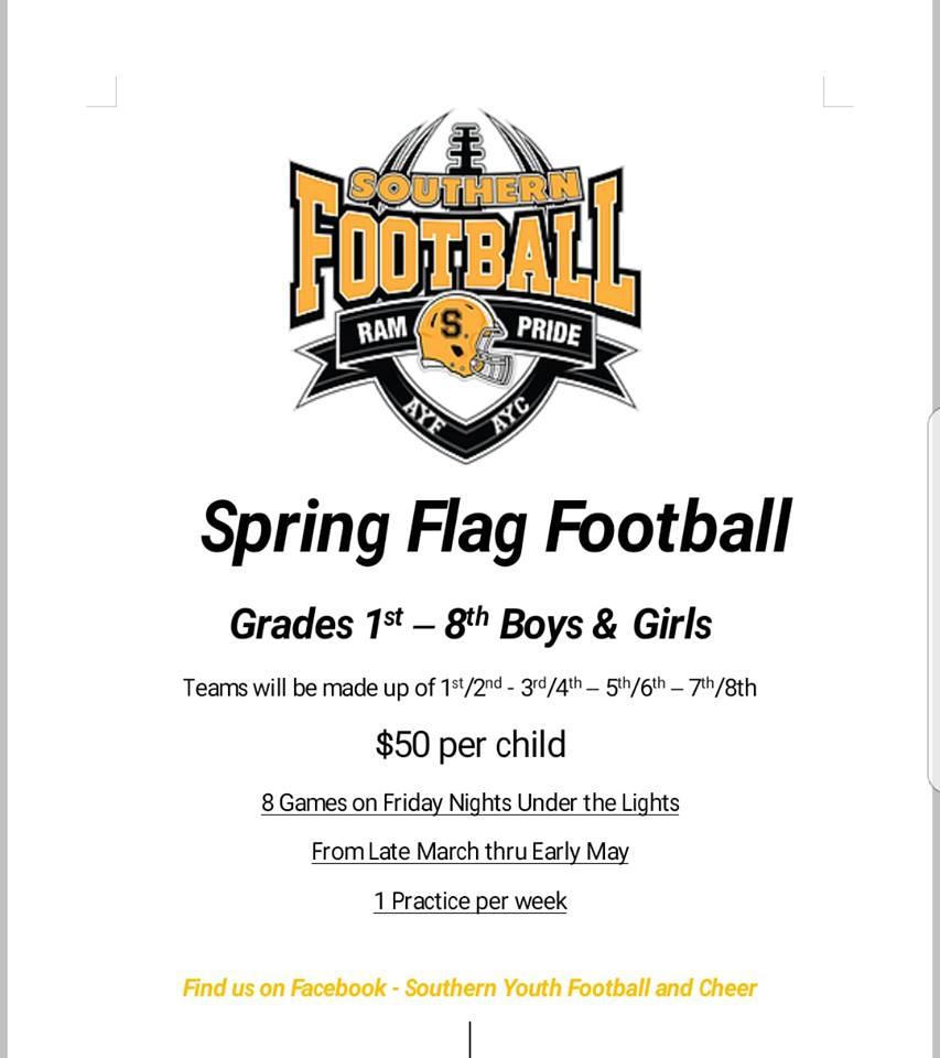Friday Night Under The Lights Spring Flag Football