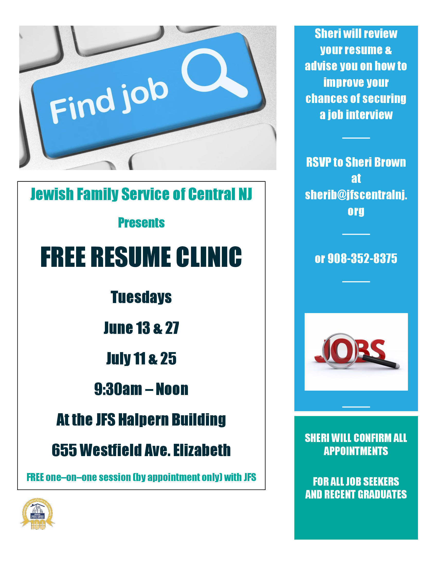 free resume clinic to take place at jewish family service