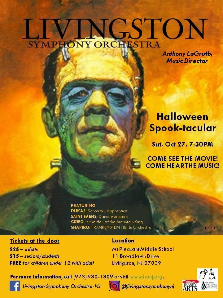 Livingston Symphony Orchestra Halloween 2020 Halloween Spook tacular | TAPinto
