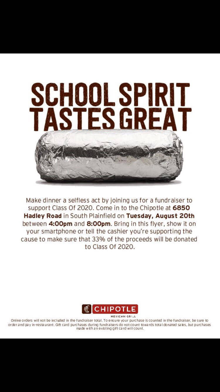 SPHS Class of 2020 Chipotle Fundraiser - TAPinto