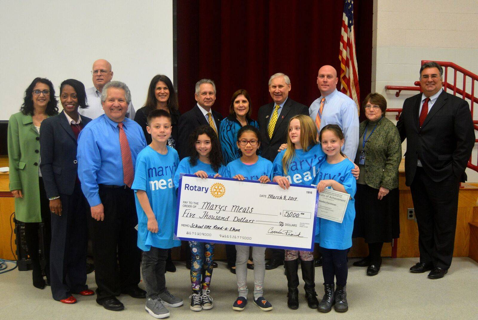 school one students in scotch plains raise for needy kids students at school one elementary school pose for a picture community leaders including sp f superintendent dr margaret hayes scotch plains or al