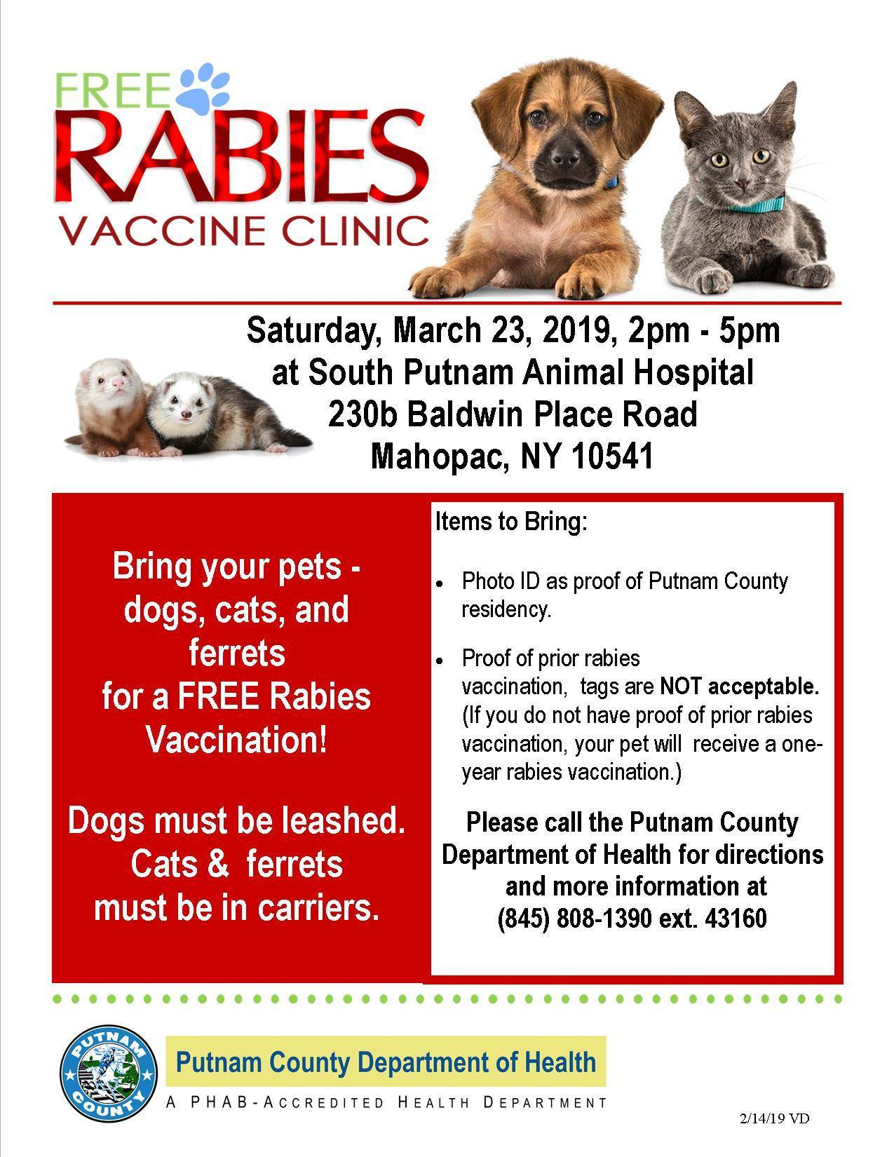 Pcdoh Free Rabies Vaccination Clinic Tapinto