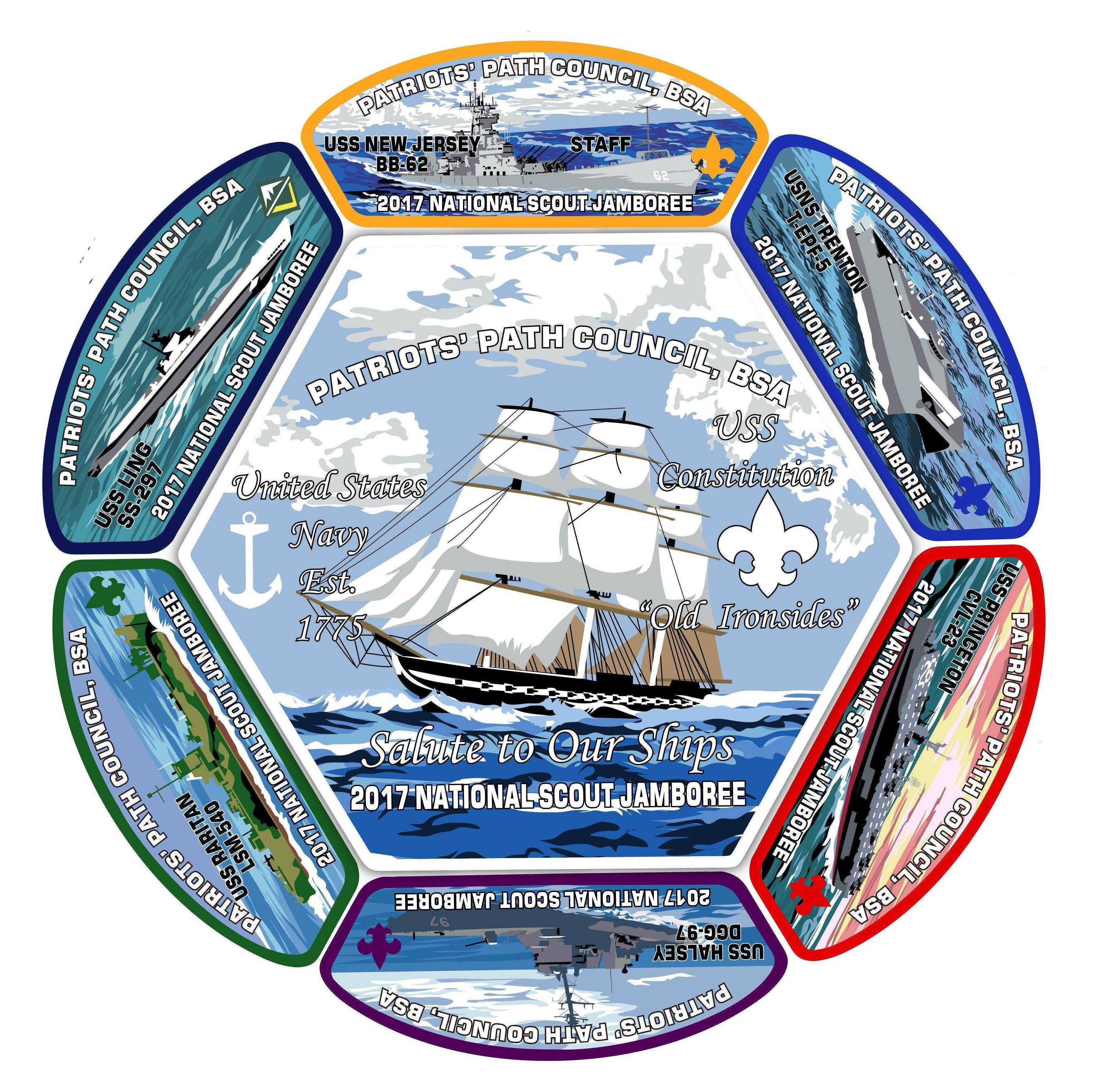Boy Scouts' 2017 Jamboree Patch Will Honor 7 New Jersey Battleships