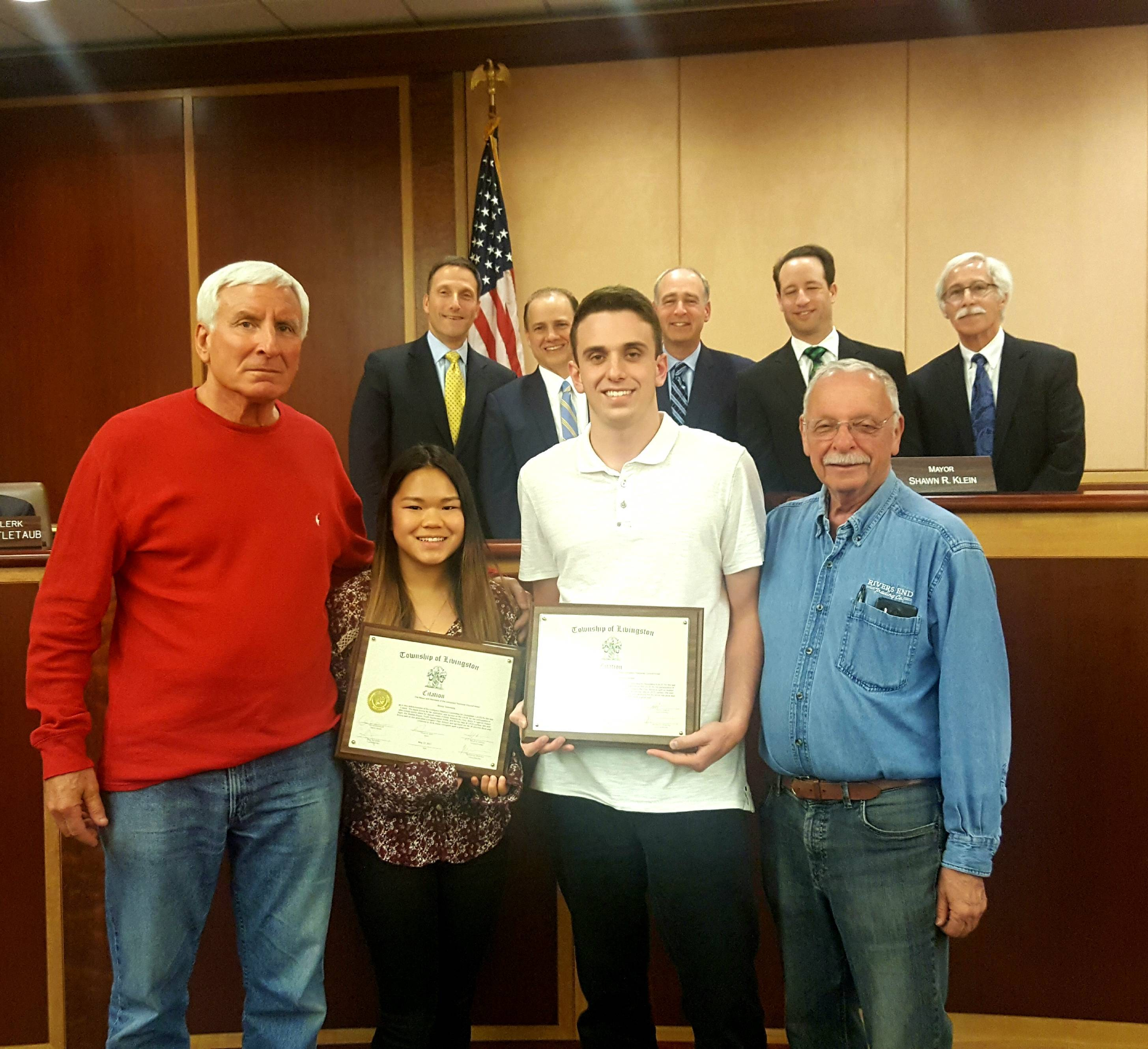 Nice Livingston High School Seniors Lawrence Lerman And Emma Greenberg With  Livingston Advisory Committee For Disabilities Chair Bob Gebroe And Member  Alan ...