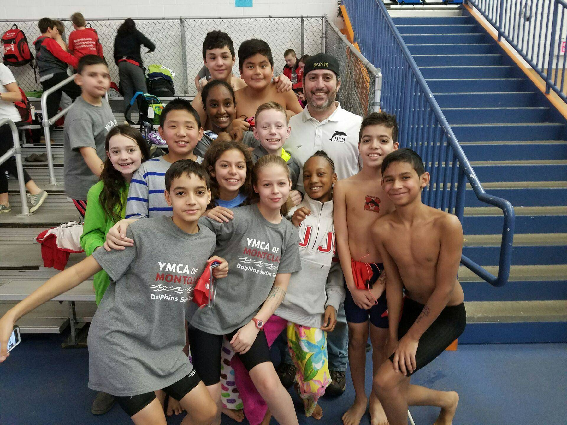 montclair ymca dolphins excel at winter classic meet bloomfield