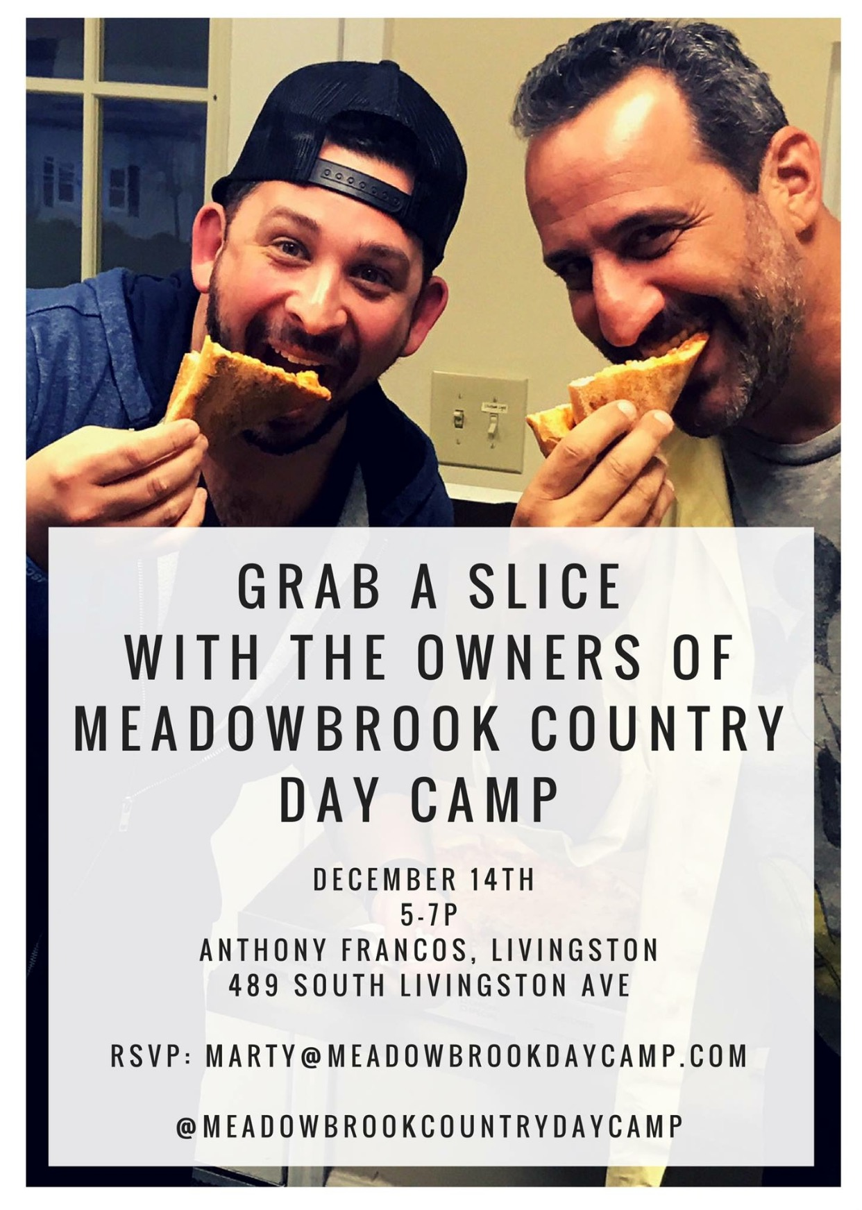 Meadowbrook County Day Camp Launch Nj Pizza Road Tour