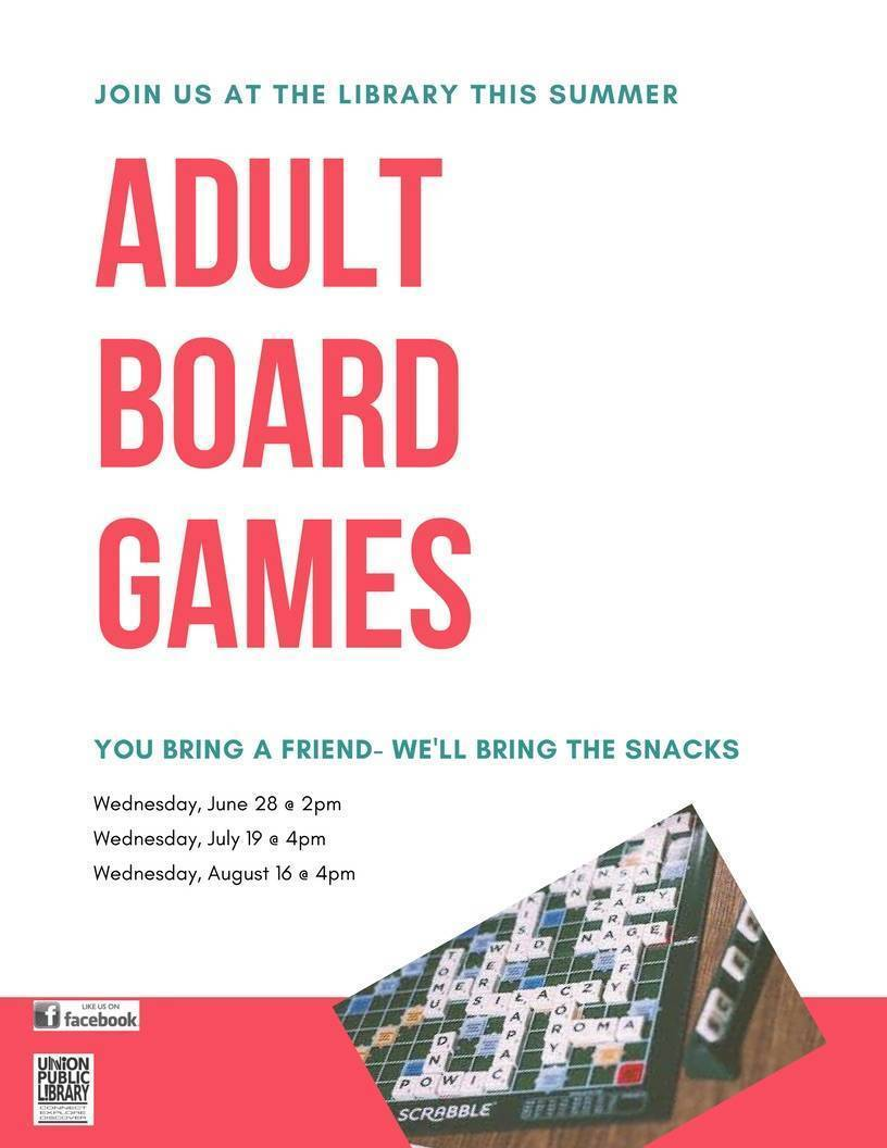 Adult board games at the union public library tapinto for Fun activities for adults in nyc