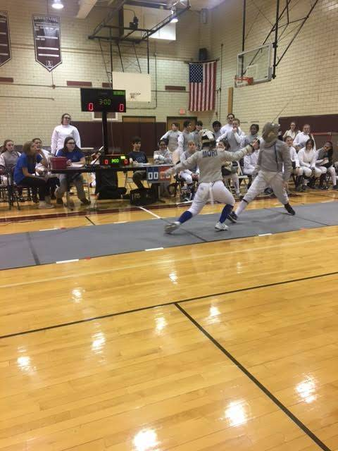 Morristown high school girls fencing team defeats butler