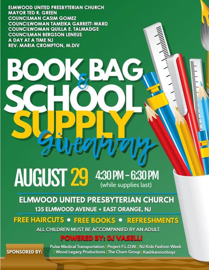 Book Bag School Supply Giveaway At Elmwood United
