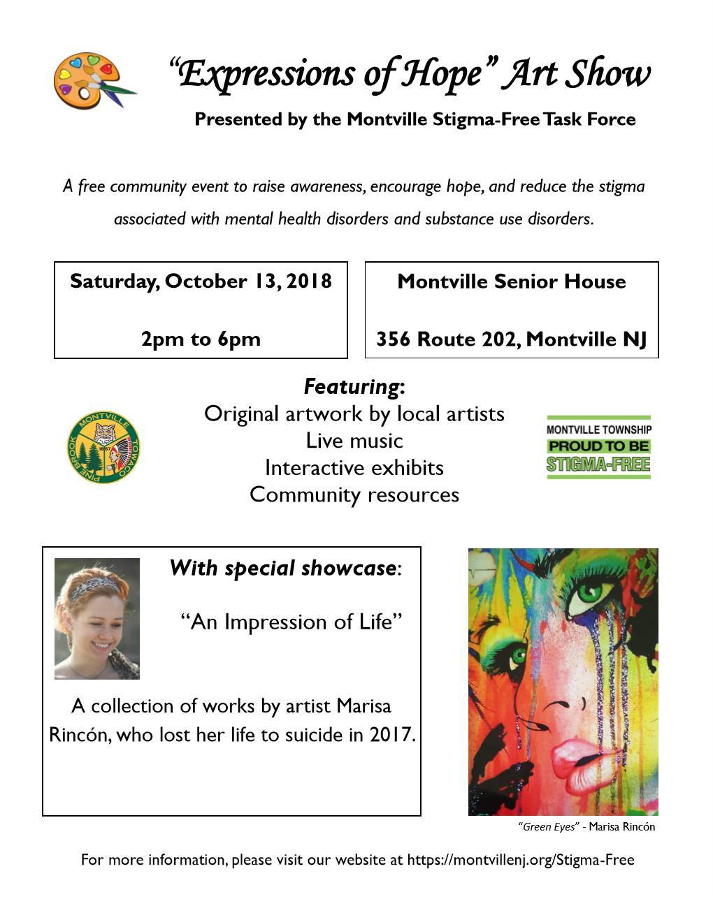 Montville Stigma Free Task Force Expression Of Hope Art Show Tapinto