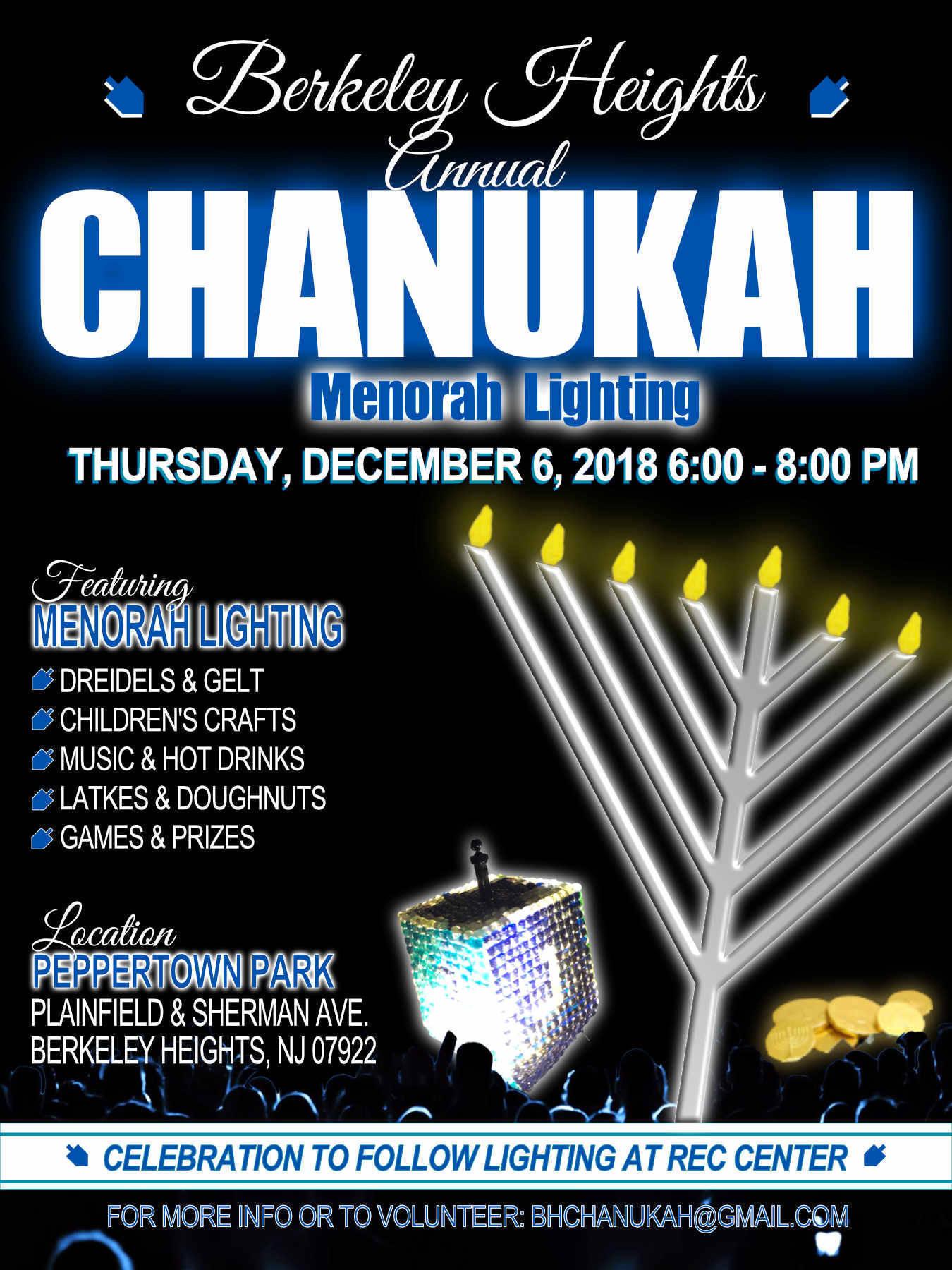 Annual Menorah Lighting Set For Dec 6