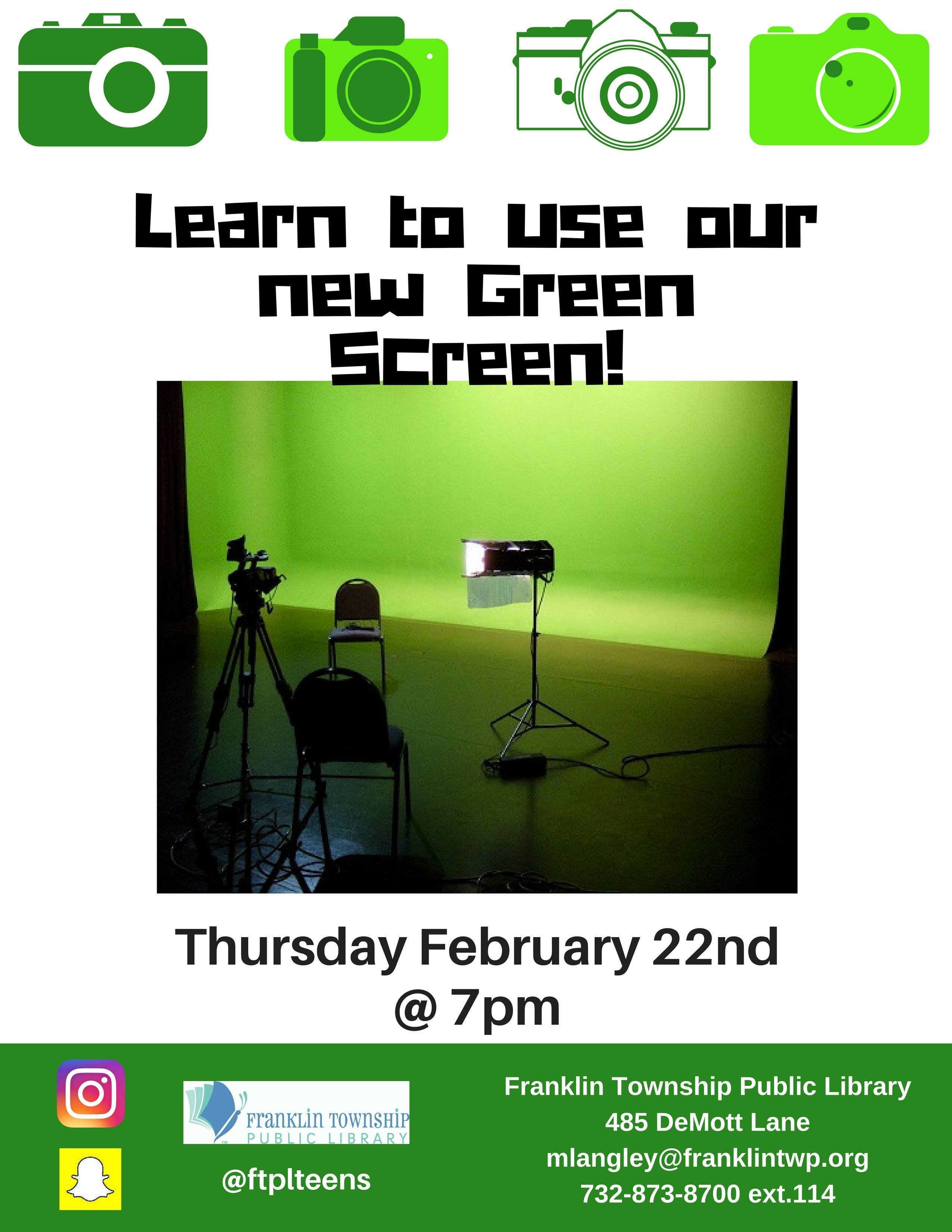 Learn To Use Our New Green Screen!