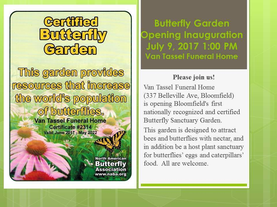 Bloomfield\'s Certified Butterfly Garden Opens Sunday at 1 p.m. ...
