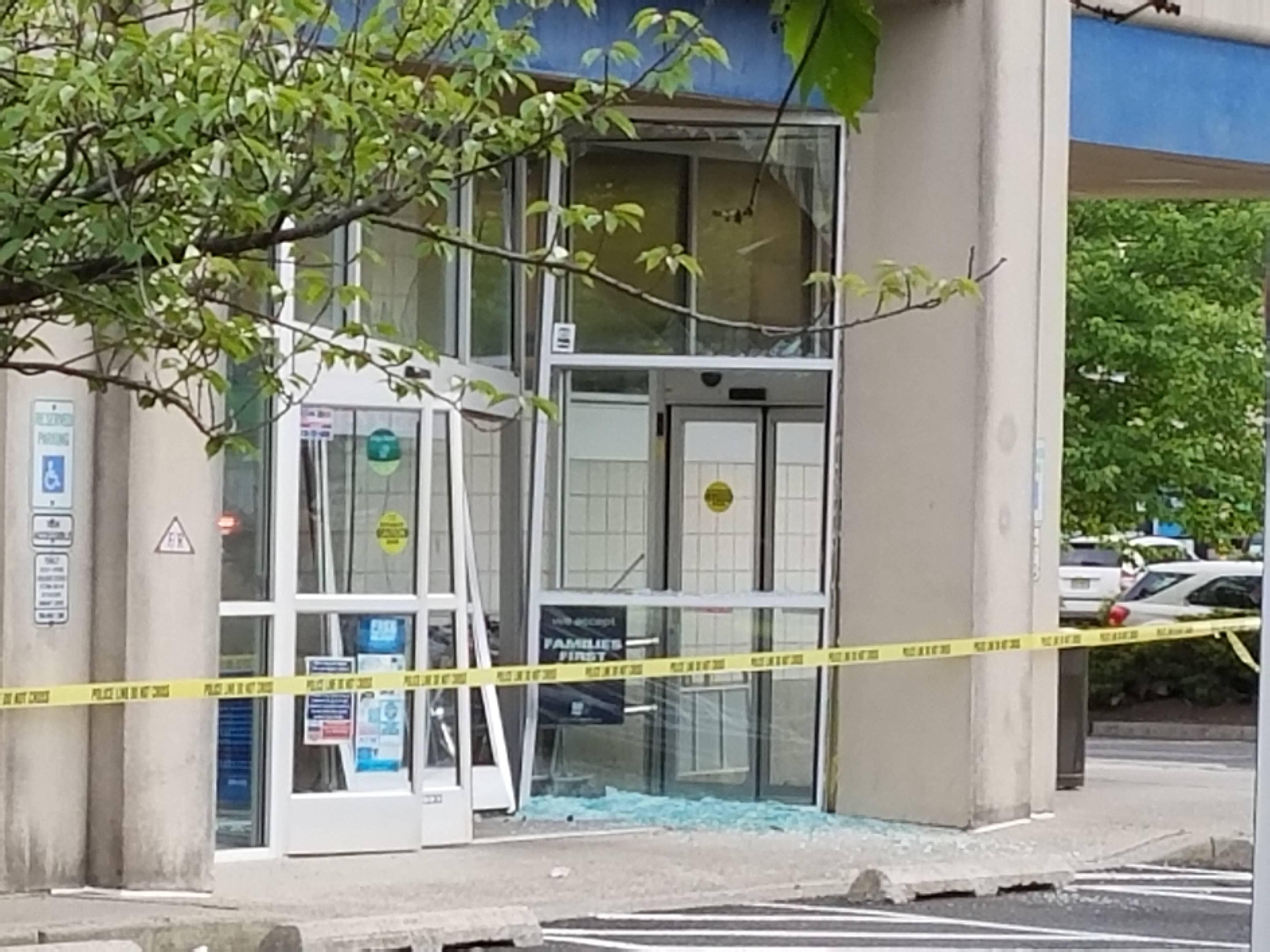 Minor Injuries As Car Slams Into Rite Aid Entrance