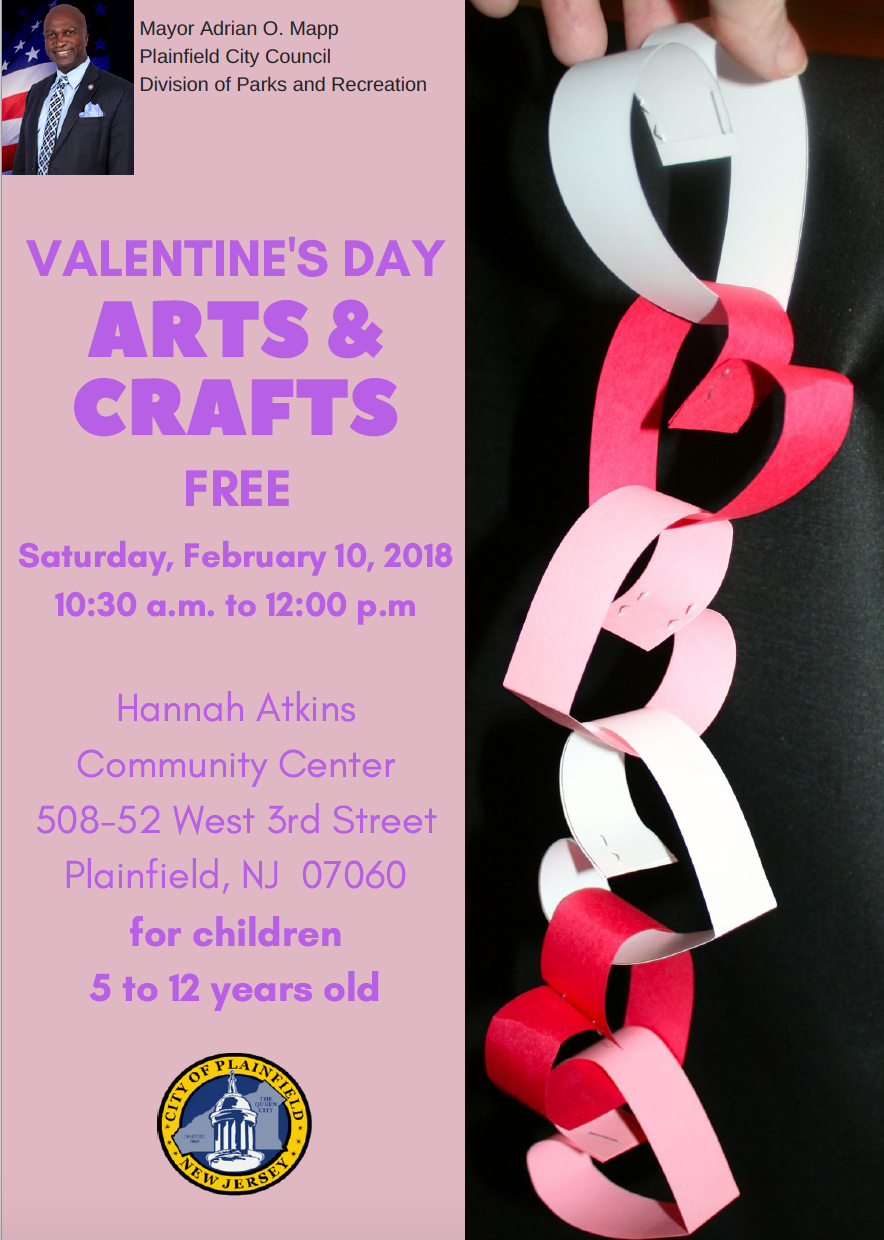 valentine 39 s day arts and crafts event for kids on saturday news tapinto. Black Bedroom Furniture Sets. Home Design Ideas
