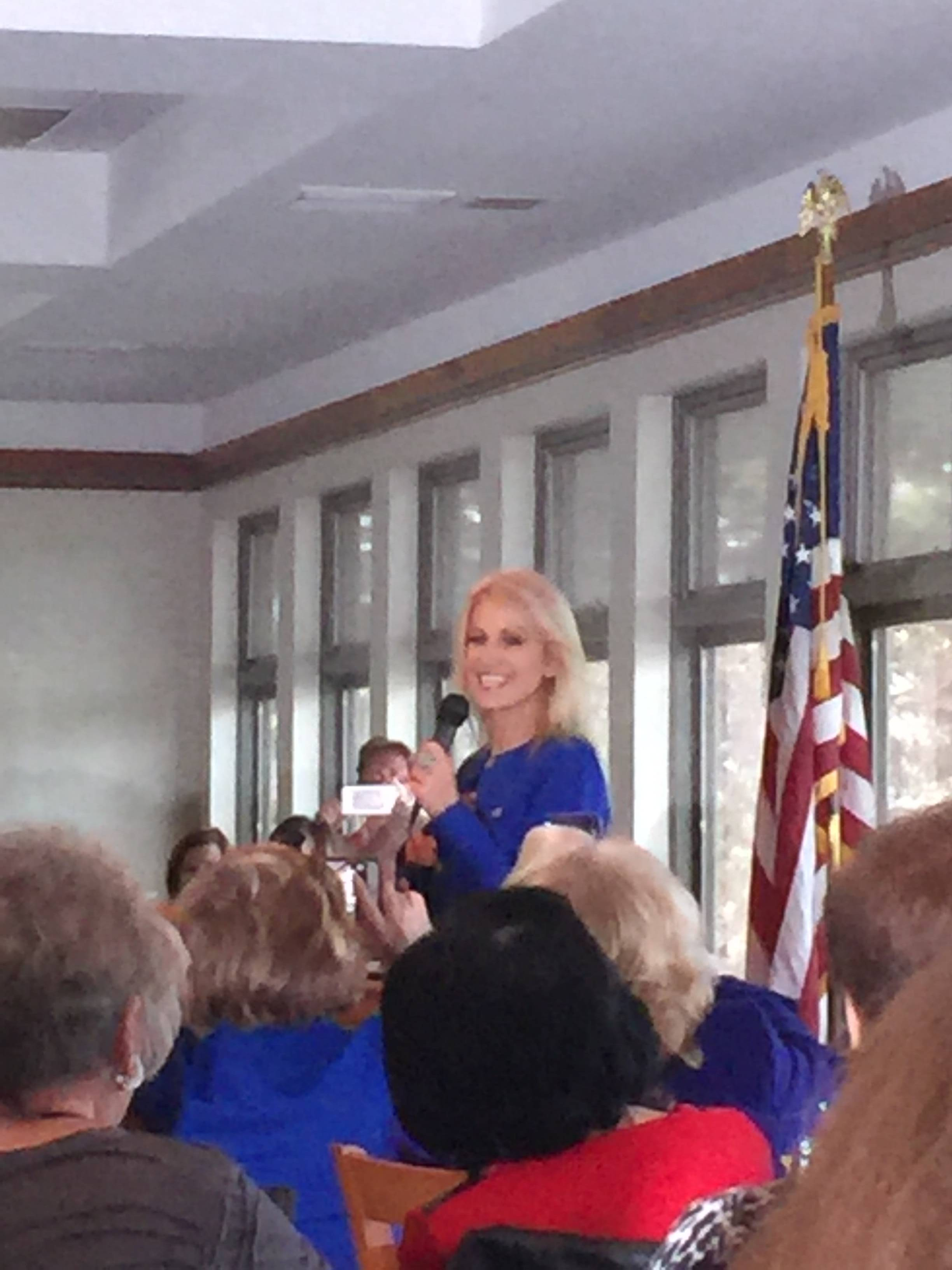 Kellyanne Conway Returns to New Jersey for a Briefing with Morris