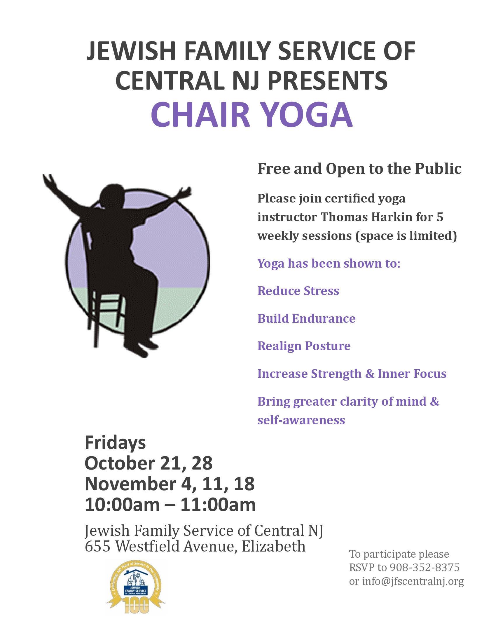 FREE Chair Yoga Classes Elizabeth NJ News TAPinto