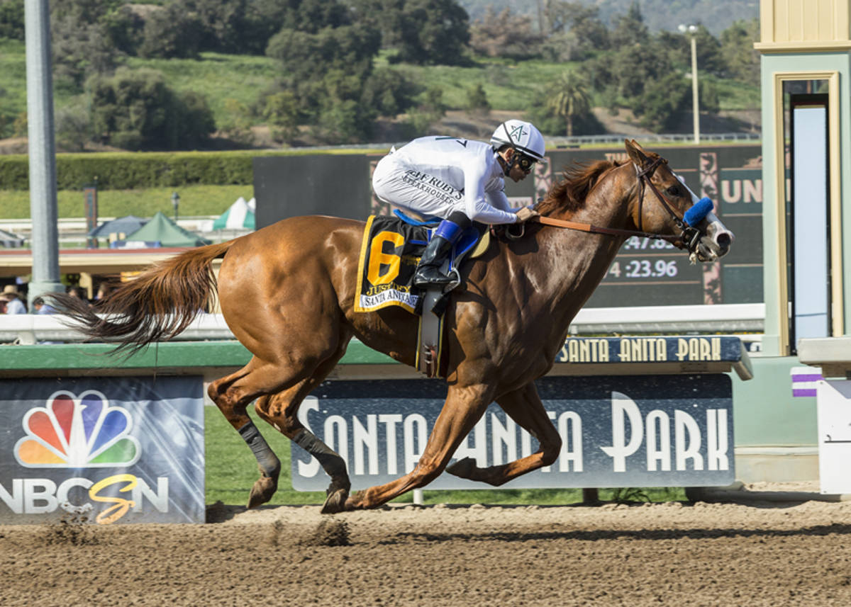 Derby Dreaming Justify Jumps On Board Good Magic Leads