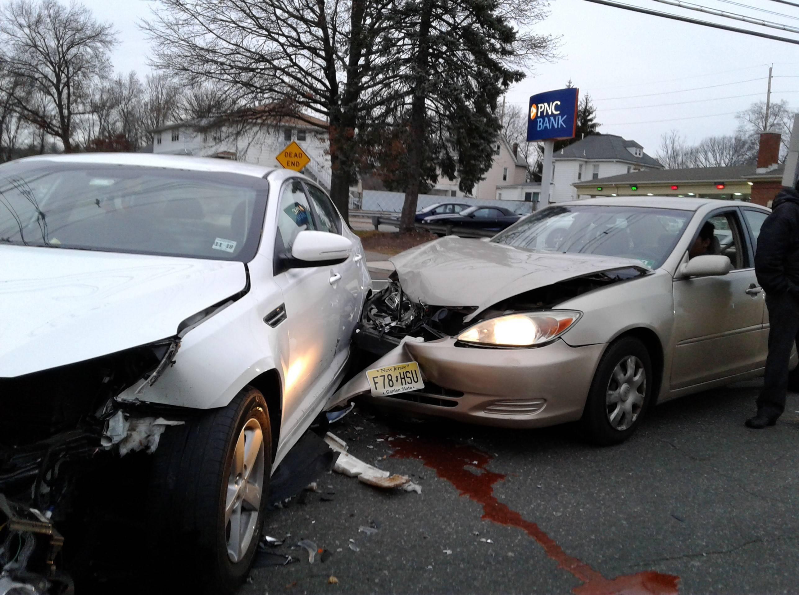 Car Crash On Mcbride Avenue In Woodland Park Results In