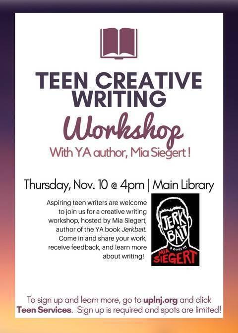 Teen Creative Writing Workshop