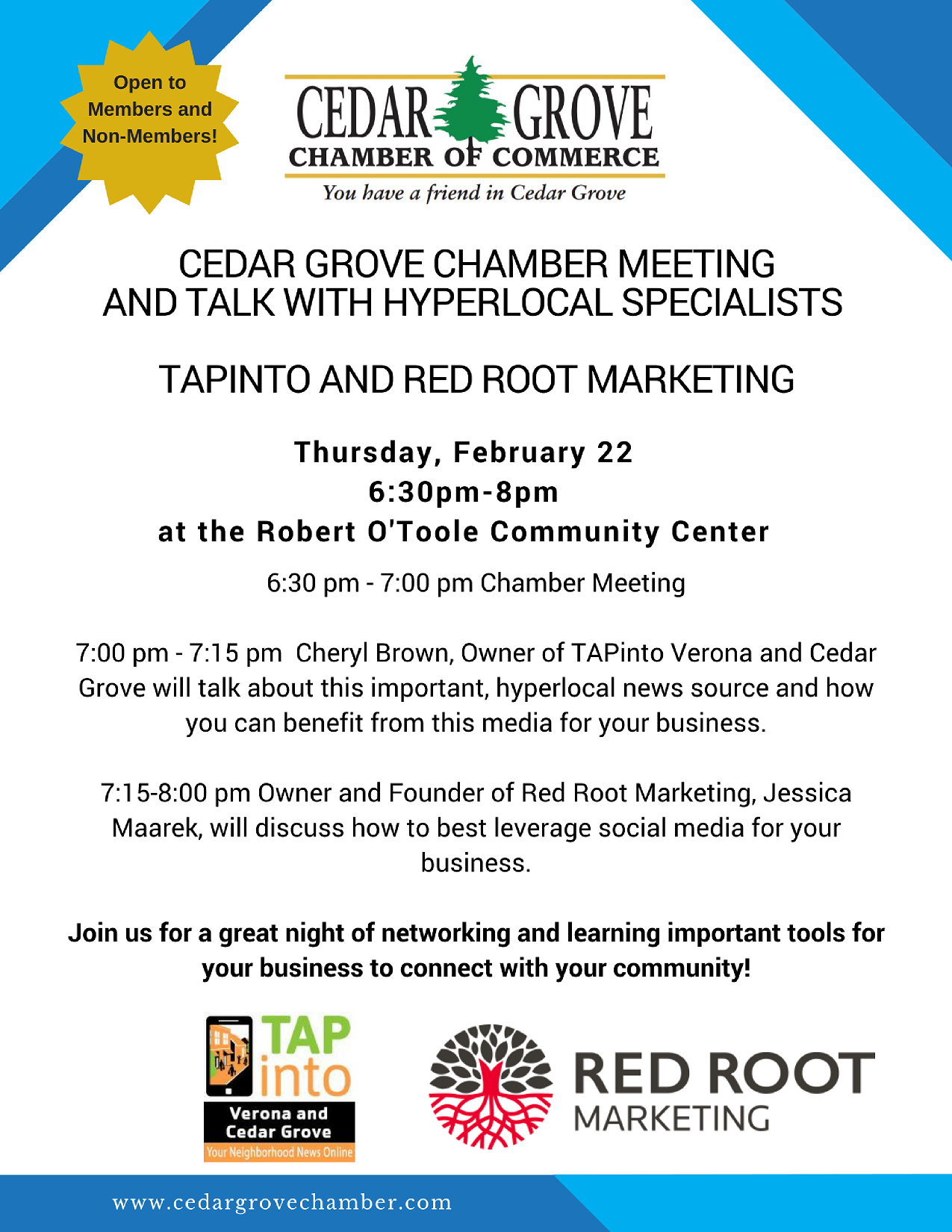 Cedar Grove Chamber Of Commerce Meeting And Hyperlocal Specialists News Tapinto