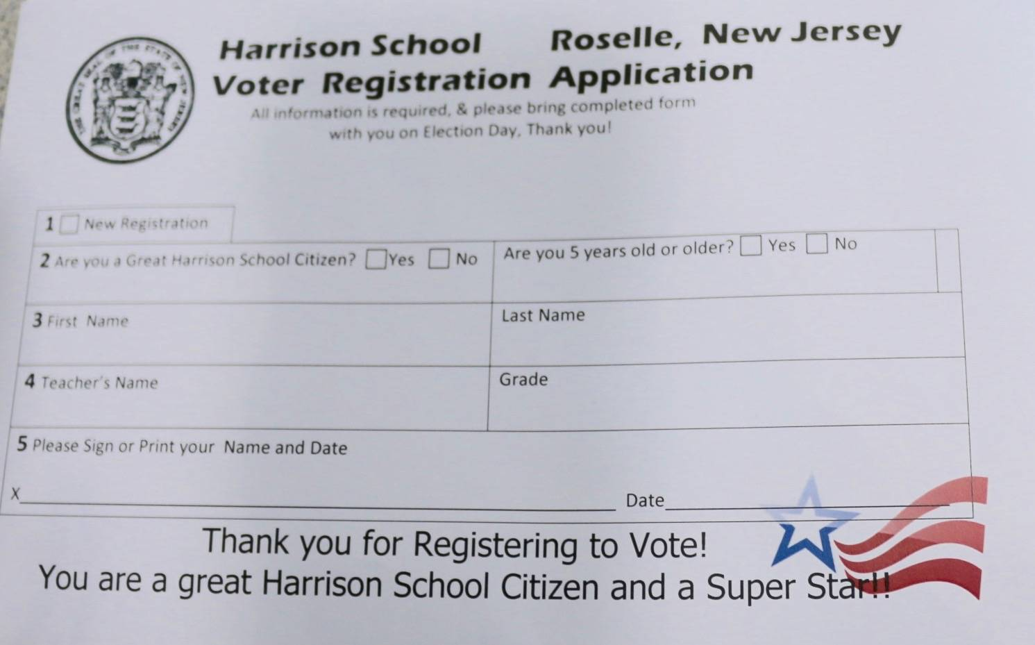 "Roselle's Harrison School ""Rocks the Vote"" with Mock Election ..."