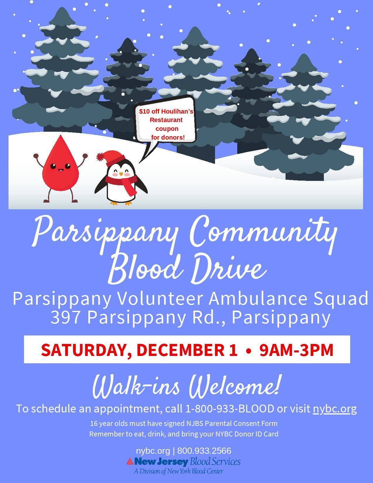 Christmas Blood Drive.Parsippany Blood Drive Tapinto