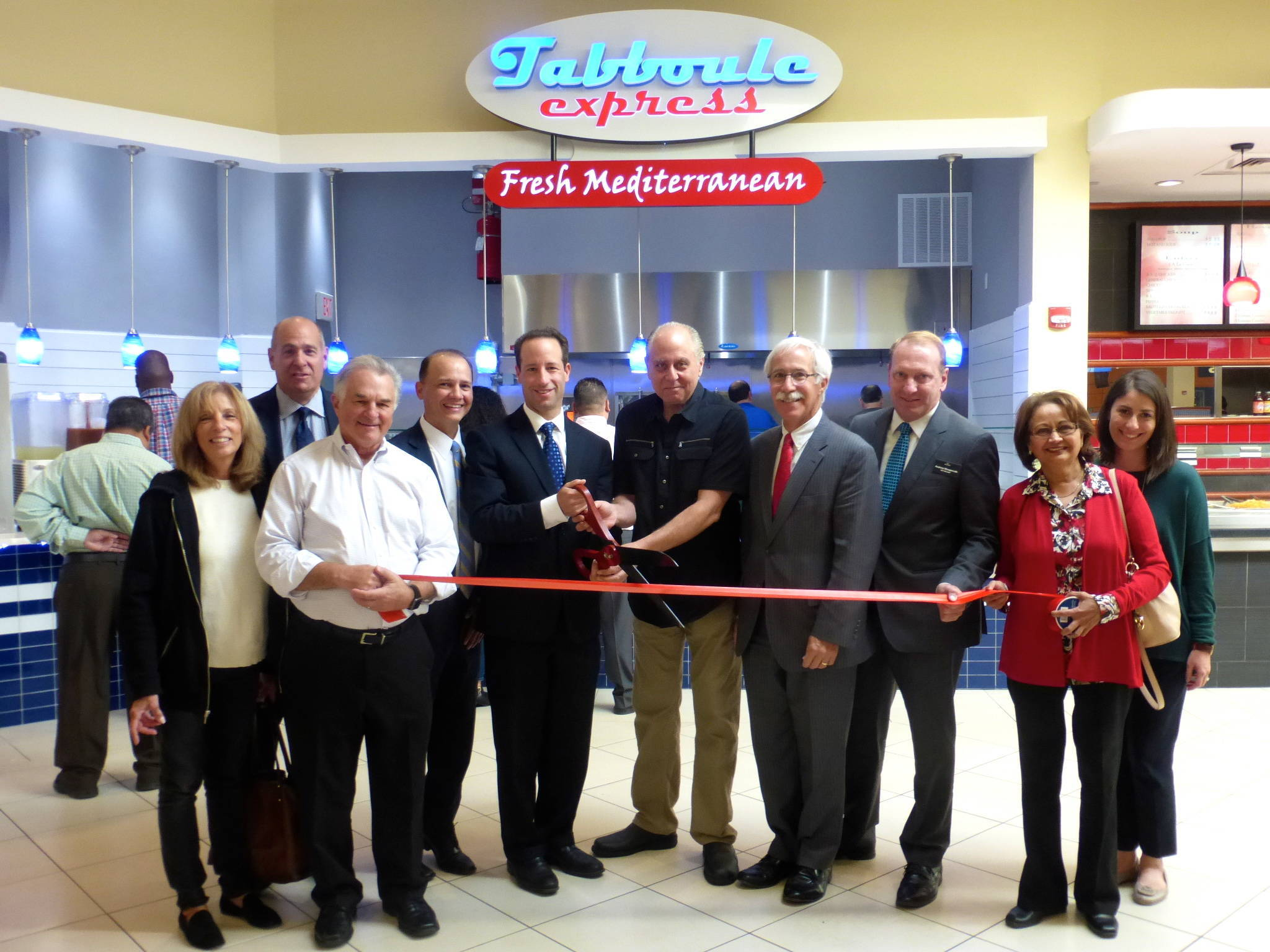 Ribbon Is Cut At Livingston Mall Food Court 39 S New Tabboule Express Livingston Nj News Tapinto