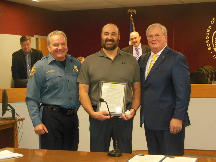 New Providence Council Honors Captain Wayne Maurer | TAPinto