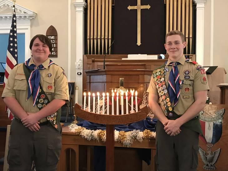 Two 'Talon-ted' Volunteers Earn Eagle Rank in Roxbury
