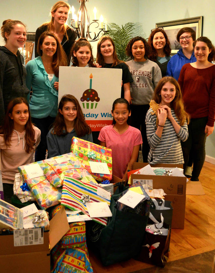 Cranford Girl Scout Troop Partners with A Birthday Wish to Donate Gifts to Union County Foster Children