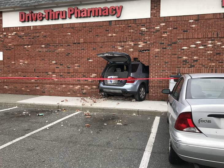 UNION, NJ - A silver Mercedes crashed through the wall at the CVS on Morris  Avenue Sunday morning. According to police, the woman driving the vehicle  ... - Car Crashes Into CVS On Morris Avenue In Union - South Plainfield