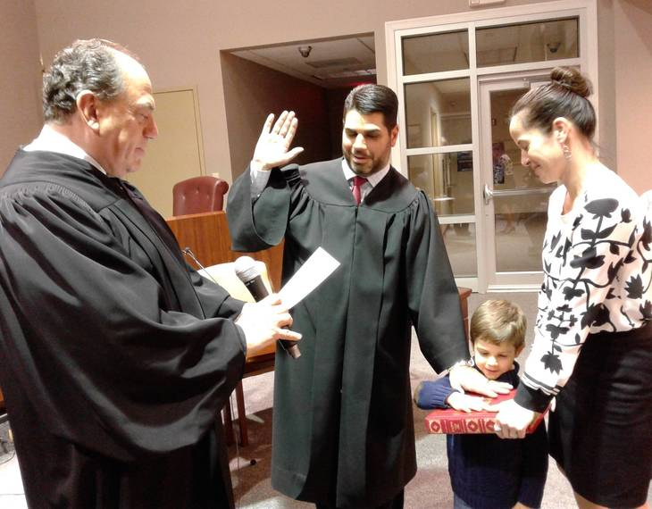 Ernest Fronzuto Sworn In As Little Falls Municipal Judge