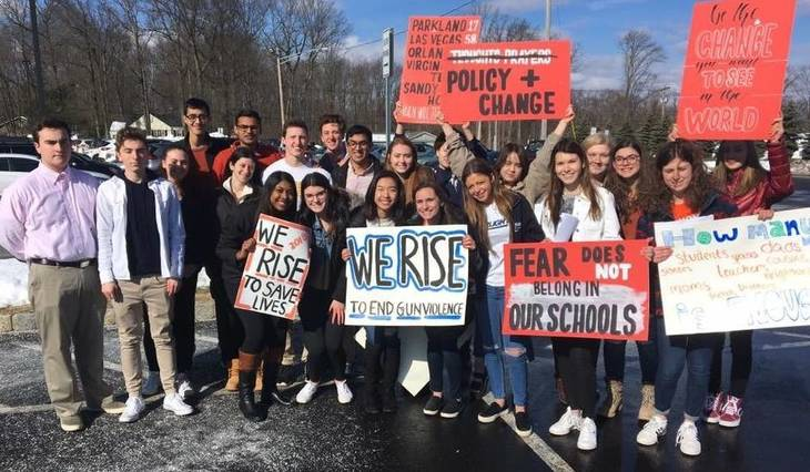 Hayes students take part in walkout