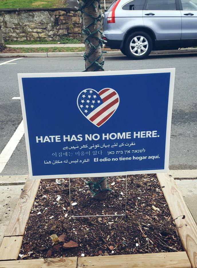 """""""Hate Has No Home Here"""" Campaign in Some New Jersey Towns Gains Momentum"""