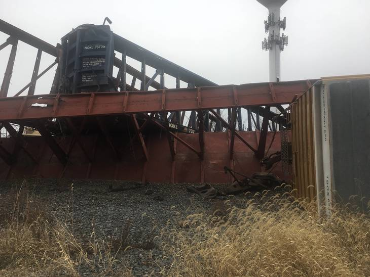 Train derailment in New Jersey