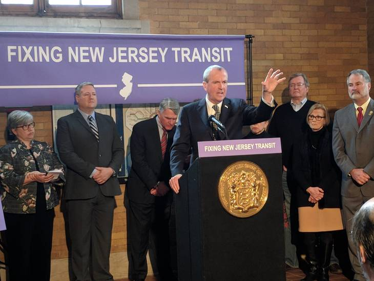 Murphy lists plans for $242M in NJ Transit funding
