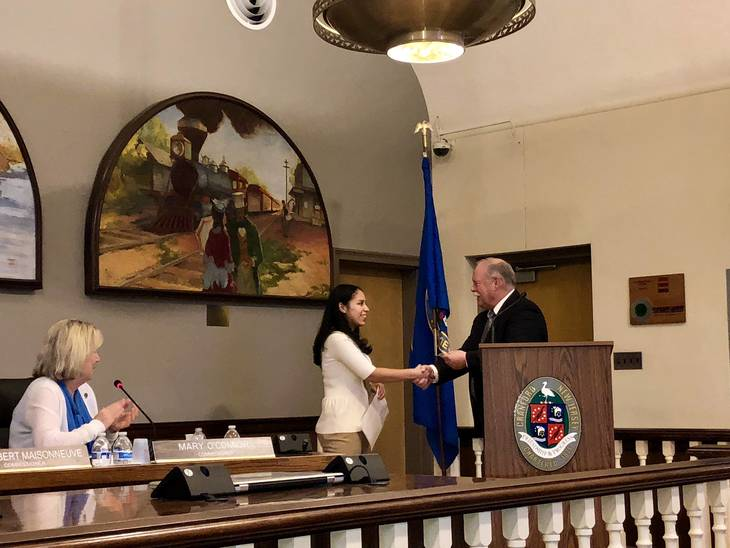 Cranford Girl Scouts Recognized at Township Committee Meeting
